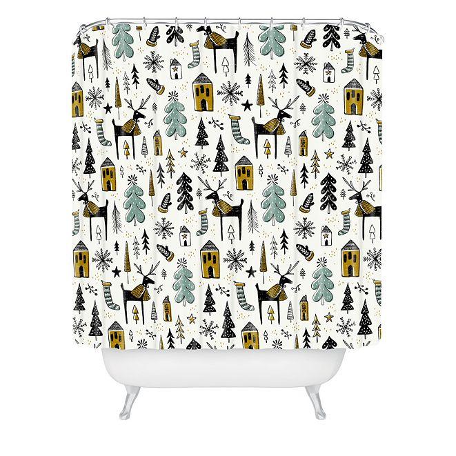 Deny Designs Heather Dutton Christmas Wonderland Shower Curtain