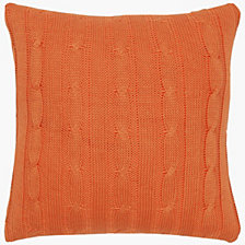"Rizzy Home 18"" x 18"" Cable Knit Poly Filled Pillow"