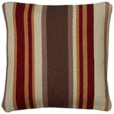 "Rizzy Home Brown 18 "" X 18"" Striped Poly Filled Pillow"
