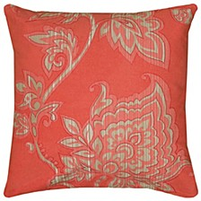 """18"""" x 18"""" Floral Poly Filled Pillow"""