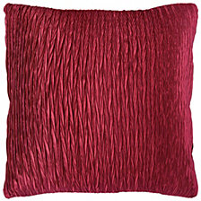 "Rizzy Home Red 18"" X 18"" Striped Poly Filled Pillow"