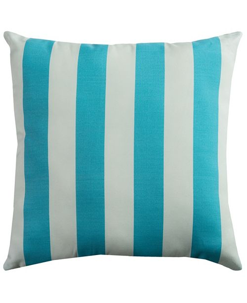 """Rizzy Home Light 22"""" x 22"""" Finnigan Poly Filled Pillow"""