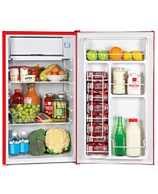 Igloo 3.2 Cu. Ft. Single Door Refrigerator W-Freezer, Retro Red