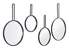 Set Of 4 Round Mirrors Black