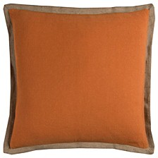 """Gold Trim Solid 22"""" x 22"""" Poly Filled Pillow"""