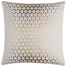 "Rizzy Home White 20"" X 20"" Textured Foil Diamond Poly Filled Pillow"