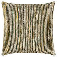 "Rizzy Home Green 22"" X 22"" Textured Stripe Poly Filled Pillow"