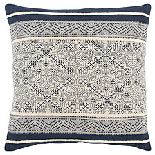 """Rizzy Home 20"""" x 20"""" Tribal Design Poly Filled Pillow"""