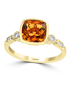 EFFY® Citrine (1 3/4 ct.t.w.) and Diamond (1/6 ct.t.w.) Ring in 14k Gold