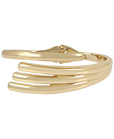 Robert Lee Morris Soho Gold-Tone Sculptural Bypass Bangle Bracelet