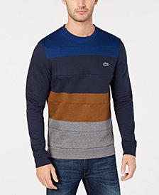 Lacoste Men's Colorblocked Brushed Fleece Sweatshirt