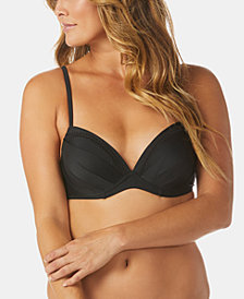 Raisins Samba Solids Moonshadow Underwire Bra Bikini Top