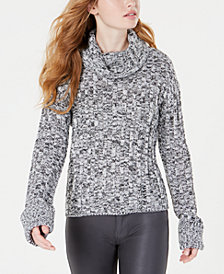 Hooked Up by IOT Juniors' Marled Cowl-Neck Sweater