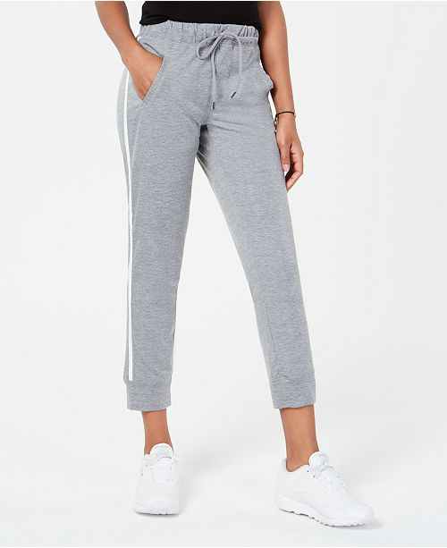 Material Girl Active Juniors' Side-Striped Jogger Pants, Created for Macy's