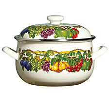 Kensington Garden Porcelain Enamel 3.8 Qt Covered Casserole