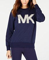 88fe39a5553f MICHAEL Michael Kors Studded MKGO Logo Sweatshirt