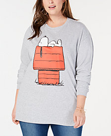 Love Tribe Plus Size Relaxing Snoopy Top