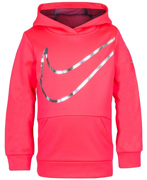 c826f95f5b51 Nike Toddler Girls Therma-FIT Logo-Print Hoodie   Reviews - Sweaters ...
