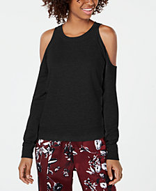 Material Girl Juniors' Cold-Shoulder Sweatshirt, Created for Macy's