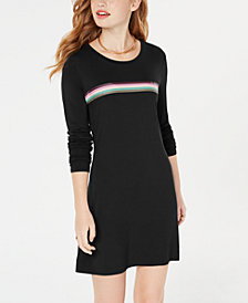 Material Girl Juniors' Graphic Mini Dress, Created for Macy's