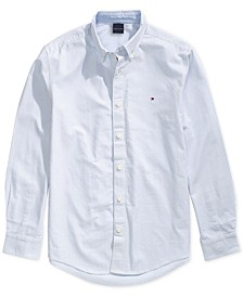 Men's City Stripe Oxford Shirt with Magnetic Buttons