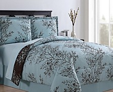 Leaf Bed in a Bag 8 Piece Comforter Set, Queen