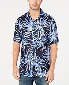 Tasso Elba Men's Agua Palma Printed Shirt, Created for Macy's