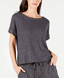 Alfani Ribbed Soft-Knit Pajama Top, Created for Macy's