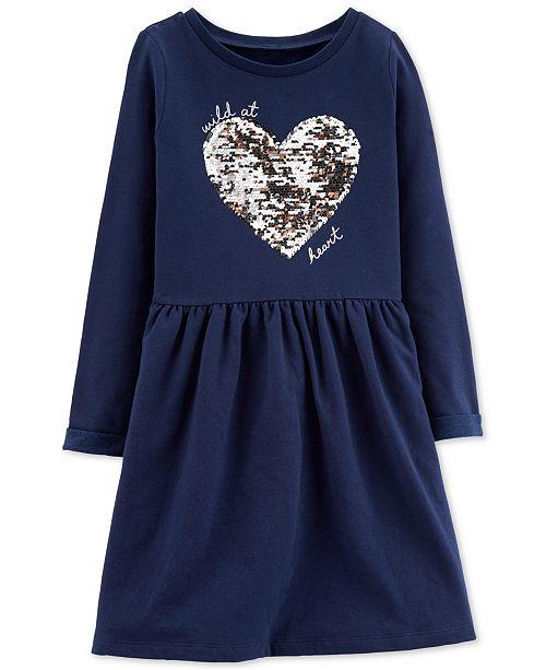 Carter's Little & Big Girls Wild at Heart Sequin Dress