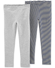 Carter's Toddler Girls 2-Pack Striped-Print Leggings