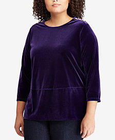 Lauren Ralph Lauren Plus Size Velvet Tunic Top