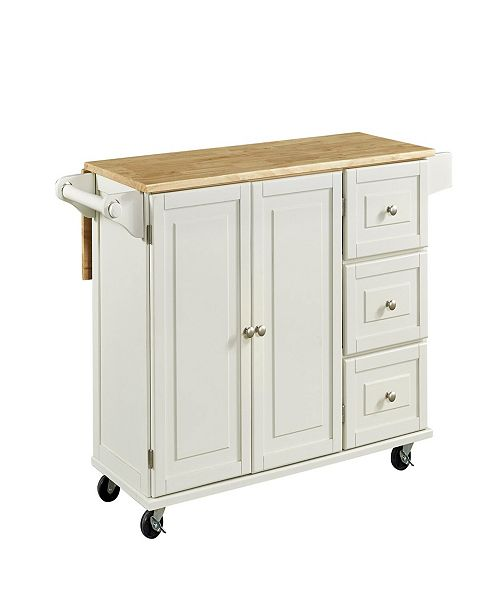 Home Styles Liberty Kitchen Cart With Wood Top Reviews