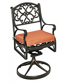 Home Styles Biscayne Rust Bronze Swivel Rocker with Cushion