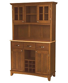 Home Styles Buffet of Buffet with Wood Top and Hutch