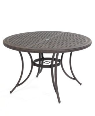 Cast Aluminum 48 Round Outdoor Dining Table Created For Macy S