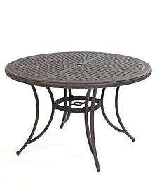 "CLOSEOUT! Cast Aluminum 48"" Round Outdoor Dining Table, Created for Macy's"