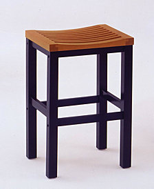 Home Styles 24 inch Black and Cottage Oak Bar Stool