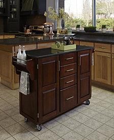 Home Styles Create-a-Cart Cherry Finish Black Granite Top