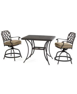 Grove Hill Outdoor Cast Aluminum 3 Pc. Balcony Dining Set (38