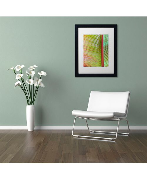 "Trademark Global Cora Niele 'Leaf Texture VI' Matted Framed Art, 16"" x 20"""