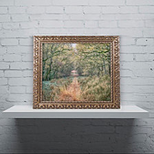 Cora Niele 'Autumn Walk' Ornate Framed Art
