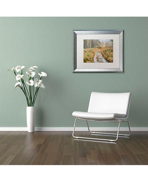 "Trademark Global Cora Niele 'Path' Matted Framed Art, 16"" x 20"""