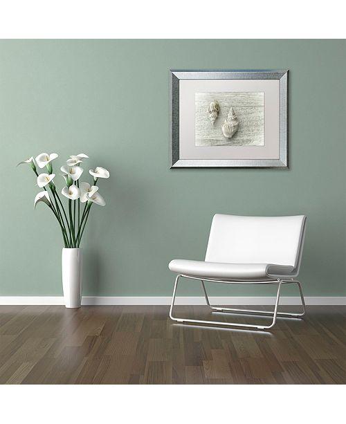 "Trademark Global Cora Niele 'Two Cancellaria Shells' Matted Framed Art, 11"" x 14"""