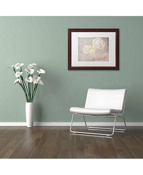"""Trademark Global Cora Niele 'White Hortensia Still Life' Matted Framed Art, 16"""" x 20"""""""