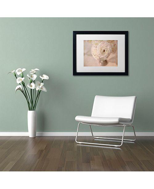 "Trademark Global Cora Niele 'White Persian Buttercup Still Life' Matted Framed Art, 11"" x 14"""