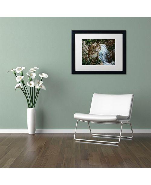 """Trademark Global Jenny Newland 'Danger In Paradise' Matted Framed Art, 16"""" x 20"""""""