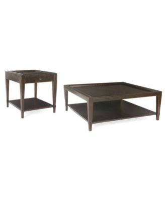 Bastille Tables, 2 Piece Set (Square Coffee Table And Rectangular End Table)