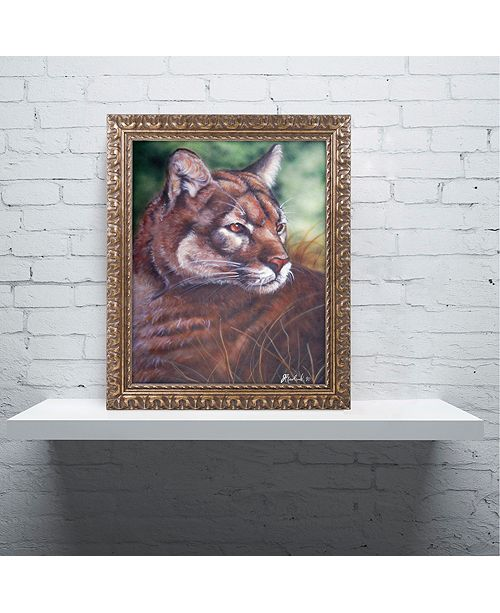 "Trademark Global Jenny Newland 'Watchful Eyes II' Ornate Framed Art, 16"" x 20"""