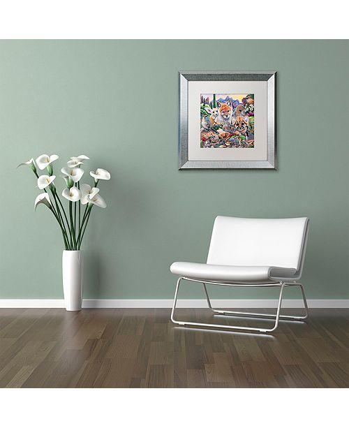 """Trademark Global Jenny Newland 'Desert Buddies' Matted Framed Art, 11"""" x 11"""""""