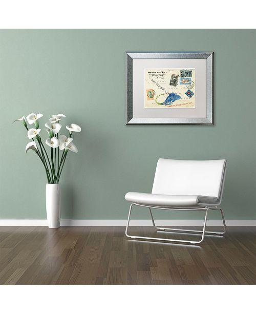 "Trademark Global Nick Bantock 'Fishlizard' Matted Framed Art, 16"" x 20"""